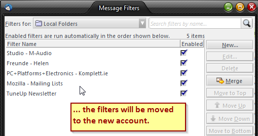filters moved successfully