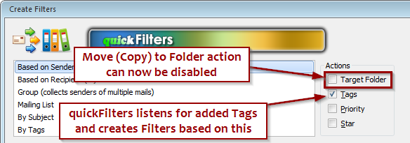 creating filters from tag changes